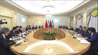 В Акорде прошла встреча Назарбаева с премьер-министром Китая