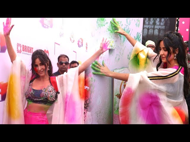 Katrina Kaif CRAZY Holi Celebration At Zoom Holi Party 2019