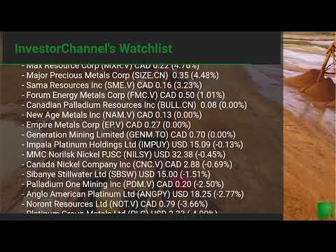 InvestorChannel's Palladium Watchlist Update for Monday, O ... Thumbnail