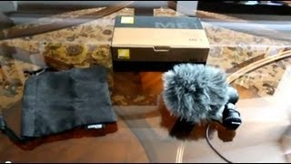 Nikon ME-1 External Mic Test With Micover Cover (HD)