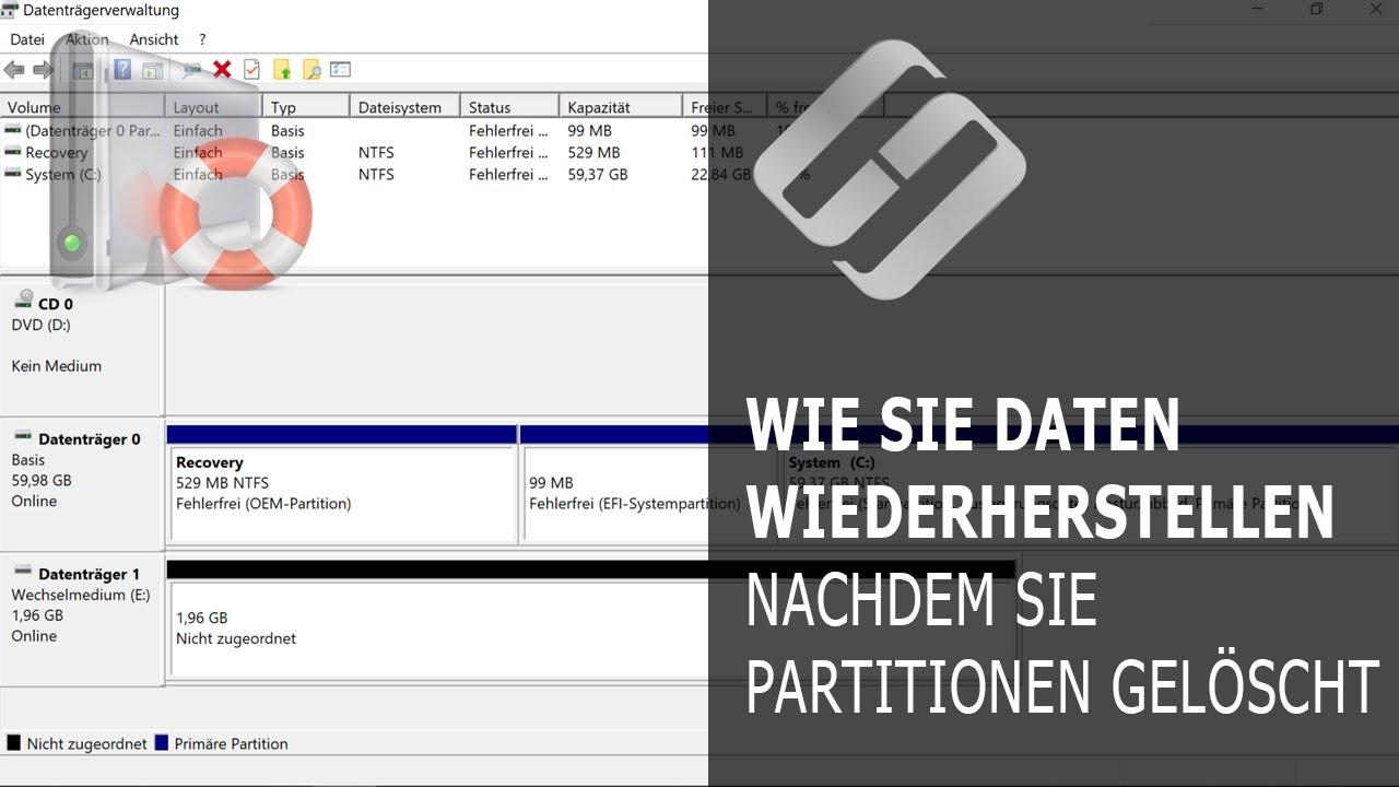 Datenwiederherstellung nach dem Löschen oder Erstellen neuer Partitionen