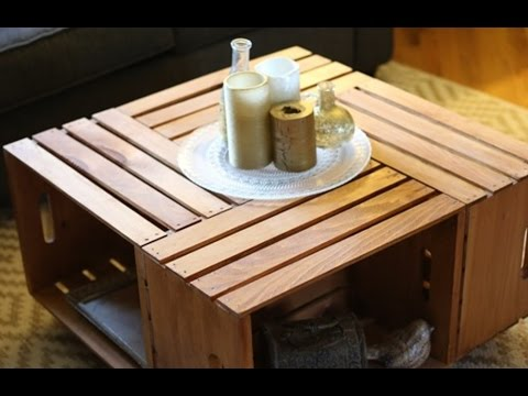 Build A Coffee Table Using Crates – Furniture DIY