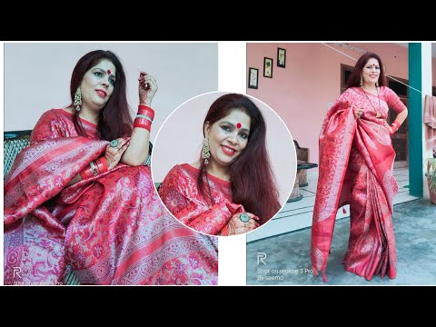 Karwa chauth vlog Indian Festive +Makeup+ saree drape  🥰☝️ देखोगे नहीं कैसे लगे 🙊🤩😊