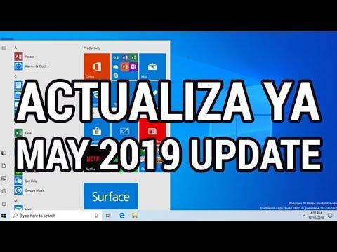 Ya disponible Windows 10 May 2019 Update (RS6 v1903) www.informaticovitoria.com