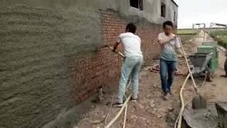 the video of spray plaster machine