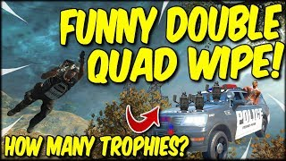 FUNNY DOUBLE QUAD WIPE DURING THIS INSANE MEMBERS QUAD GAME ON COD BLACKOUT!