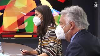 Reunión de trabajo de S.M. la Reina con la Fundación Mutua Madrileña
