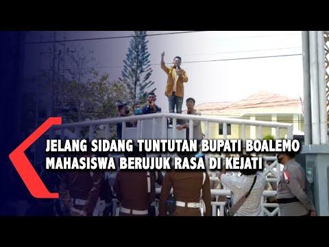 jelang sidang tuntutan bupati boalemo mahasiswa berujuk rasa di kejati