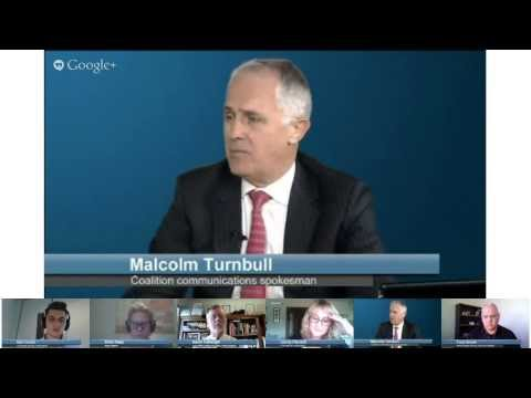 Watch Malcolm Turnbull Do A Google Hangout On Election Issues