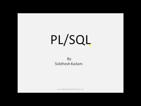 Basics of PL/SQL Programming..[Tutorial-1]