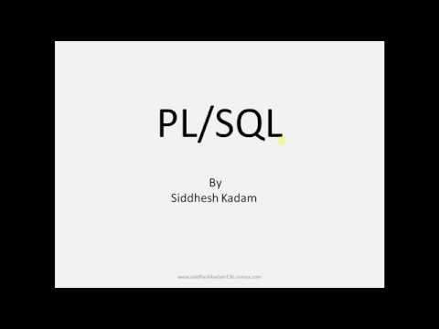 Basics of PL/SQL Programming..[Tutorial-1]