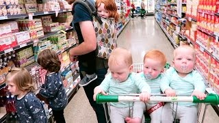 Grocery Shopping With Six Kids (Aged Four & Under.. Including Baby Triplets!)