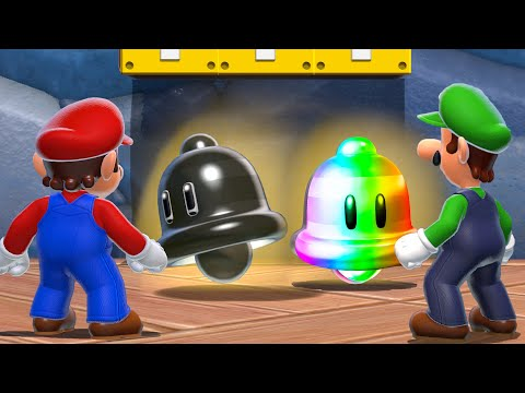 What happens when Mario & Luigi use the Rainbow Cat Bell and the Evil Cat Bell in Bowser's Fury?