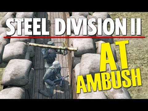AT AMBUSH! Steel Division 2 BETA Breakthrough Gameplay (Tsel, 2v2)