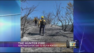 Kern County firefighters sent to help with Hunter Fire in Monterey County