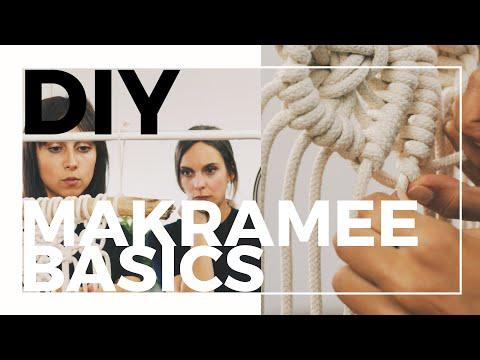 Makramee Basics   4 einfache Knoten für Anfänger   DIY Makramee-Wandbehang