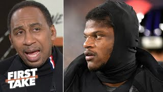Stephen A. downplays Lamar Jackson's 5 TDs: 'He was aight,' but it was the Jets! | First Take