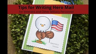 Tips for Writing Hero Mail including Letters for Military Doctors Etc