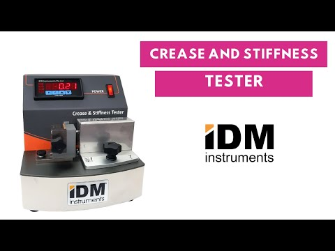 A quick look at the C0039-M2 Round Crease and Stiffness Tester in action