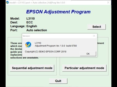 How to Resetting Service Printer Epson L3110, L3150 Free