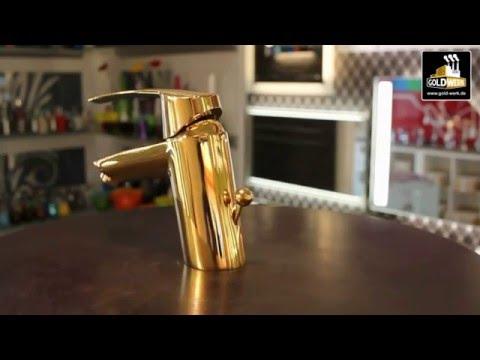 Luxus Grohe Start Armatur 24 Karat feinvergoldet (999)