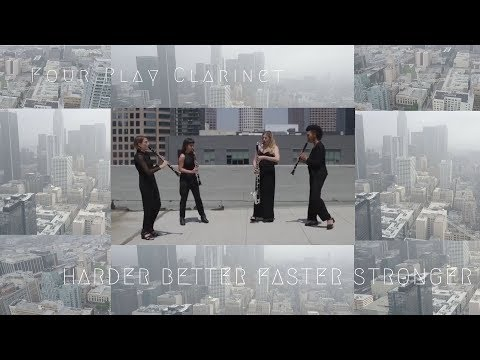 Four Play clarinet - Harder, Better, Faster, Stronger by Daft Punk Cover