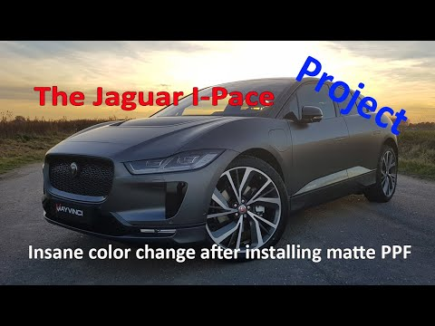 AMAZING RESULT: Very Dirty Jaguar I-PACE Gets Full Detail  & Very Special PPF Installation.