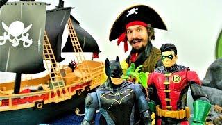 Супергерои и Пираты - Бэтмен и Робин в ловушке Бэйна!