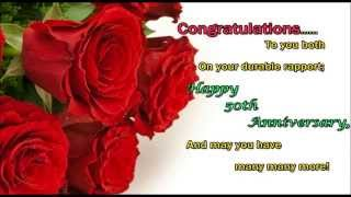 Happy 50th Wedding Anniversary wishes, 50th Anniversary SMS, Text Message, Greetings, Whatsapp Video