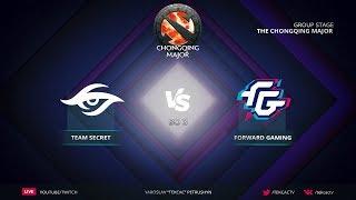 [RU] Team Secret vs Forward Gaming   Bo3   The Chongqing Major by @Tekcac
