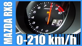 Mazda RX8 231 HP NICE! 0-210 km/h Acceleration Test Autobahn Beschleunigung
