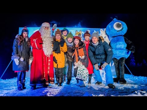 Alipay Blue Magic in Santa Claus Village