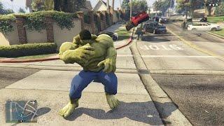 GTA 5 Mods #49 - Hulk khổng lồ đánh nhau với Hulk tí hon