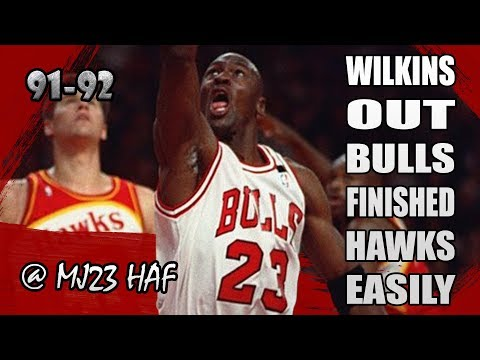 Michael Jordan Highlights vs Hawks (1992.04.13) – 12pts