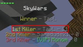 Minecraft: 11 Kills in Solo (Hypixel SkyWars)
