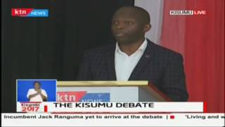 Mr David Wayiera responds to the issue of making it easy for people to do business,The Kisumu debate