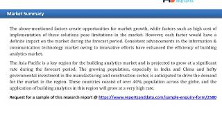 Building Analytics Market Overview To 2027