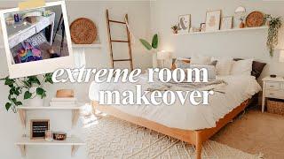 EXTREME BEDROOM CLEAN + MAKEOVER   Clean, Declutter, Makeover 2020