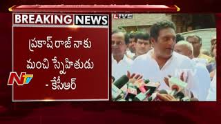 Actor Prakash Raj Gives Clarity About CM KCR's Third Front Plan | KCR Meet With Deve Gowda
