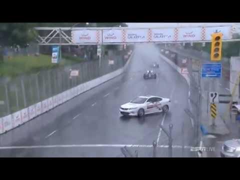 Oops! Safety Car spins at the 2014 Honda IndyCar Toronto