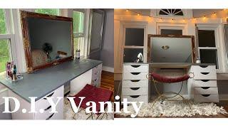 D.i.y Ikea Inspired Bedroom Desk/vanity🥂😍