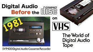 Digital Audio on VHS - Before the CD : Technics SV-P100