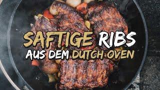 SPARERIBS Aus Dem Dutch Oven | McRib Ribs In 2 STUNDEN!