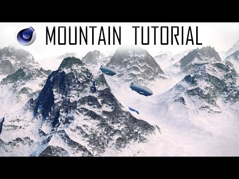 3D Mountains Tutorial ~ Cinema4D