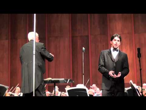 Alex Lawrence, baritone performs Lord God of Abraham from Mendelssohn's 'Elijah.'