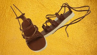 How To Make Leather Roman Sandals, Tutorial & Pattern