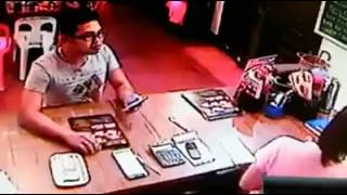 Thief Caught Stealing Inside a Philippines Restaurant - spread awareness