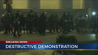 Protest In Downtown Columbus Broken Up After Demonstrators Breach Ohio Statehouse