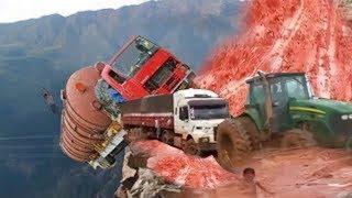 Amazing Dangerous Biggest Trucks Excavator Fail Win - Heavy Equipment Disaster