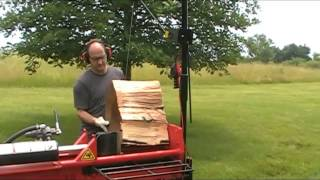 Demonstration Of Gorillabac Log Splitter Lift Arm Equipment Patented 9802800, 9150387
